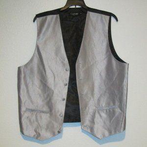 CuffsNY Formal Wear Silver & Black Vest
